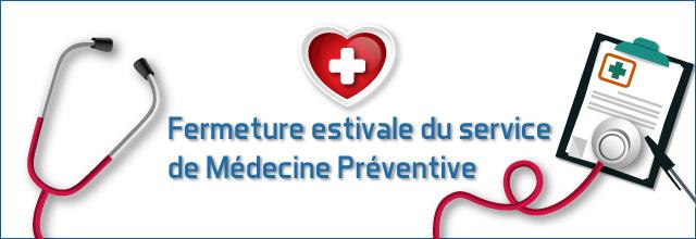Information aux adhérents du service de médecine préventive